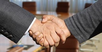 Staffing handshake